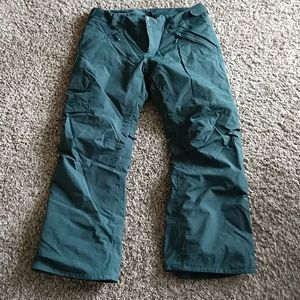 Forest Green North Face snowboard/ski pants